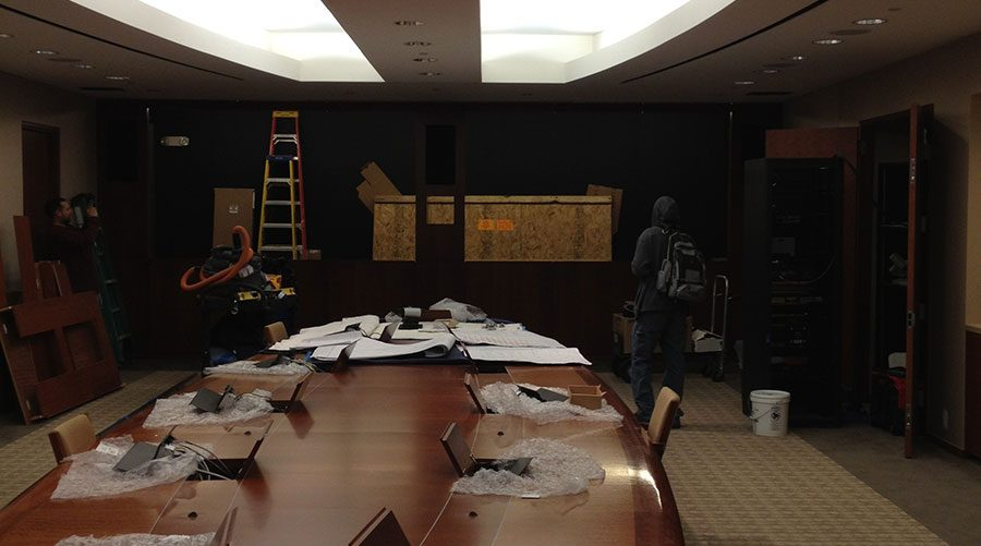 Boardroom partially constructed